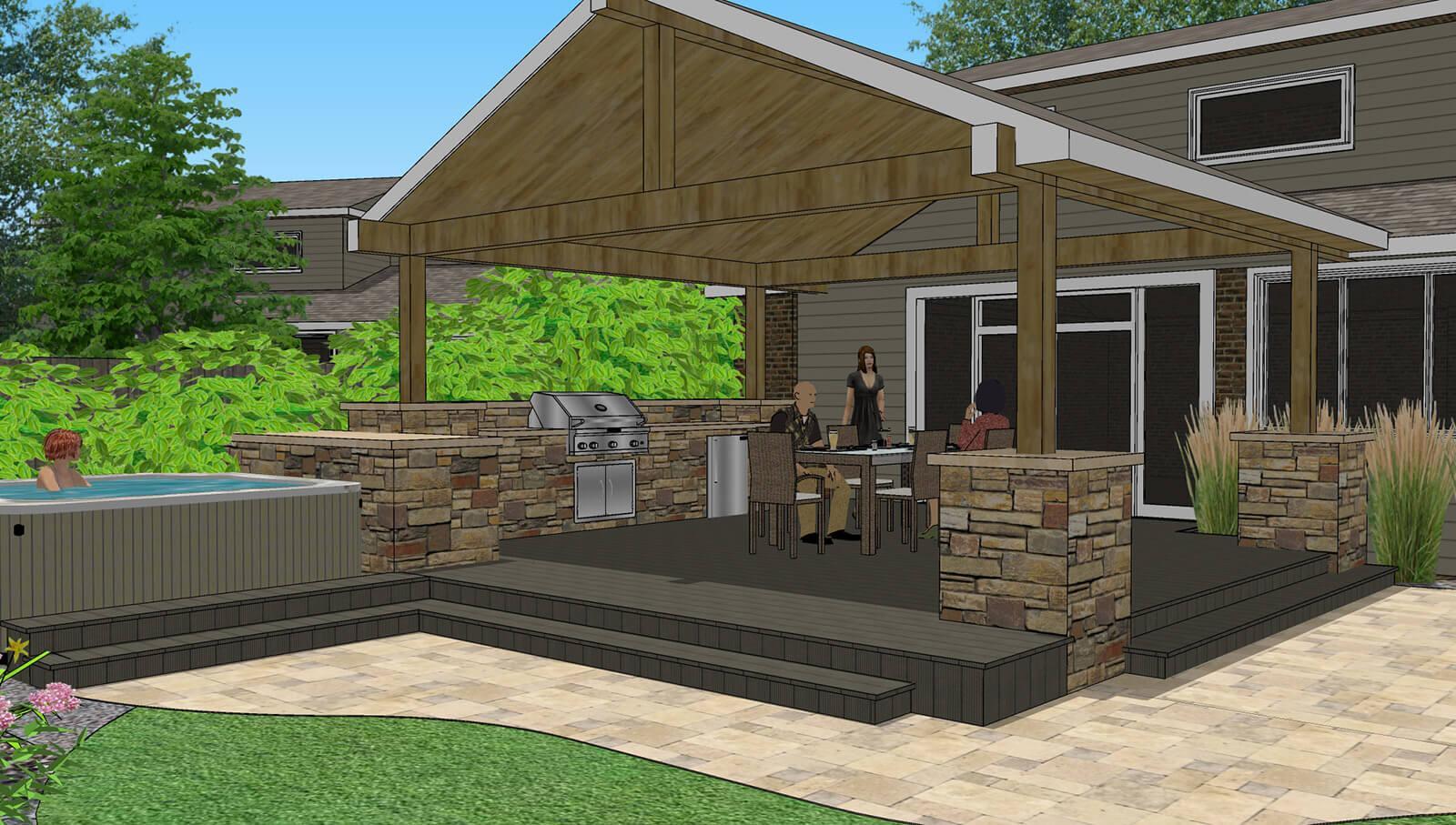Architectural Landscape Design - Denver Colorado ... on Elite Landscape And Outdoor Living id=20674
