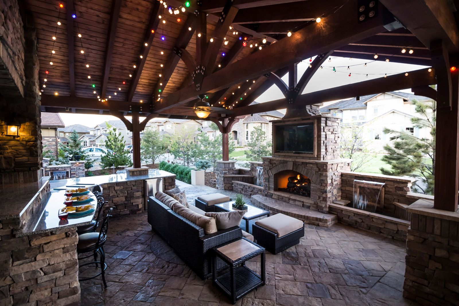 Outdoor Living Spaces & Structures - Elite Landscape ... on Small Backyard Living Spaces id=67029